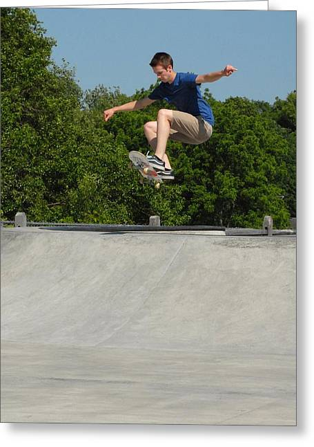 Skateboarding 6 Greeting Card by Joyce StJames