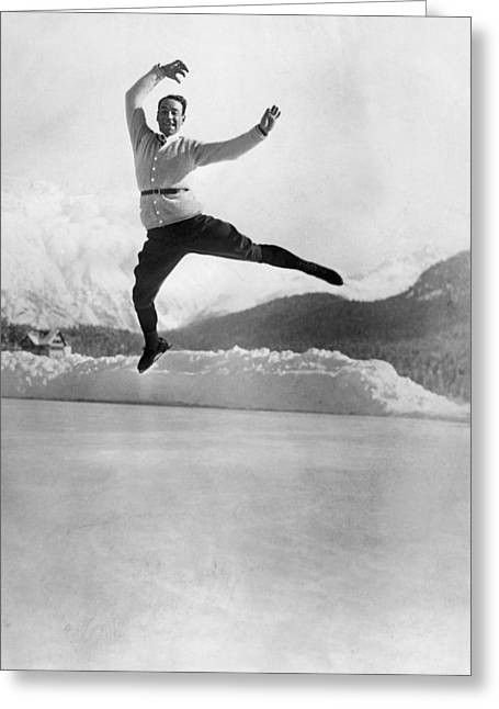 Skater Up In The Air Greeting Card