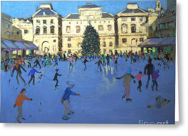 Skaters  Somerset House Greeting Card