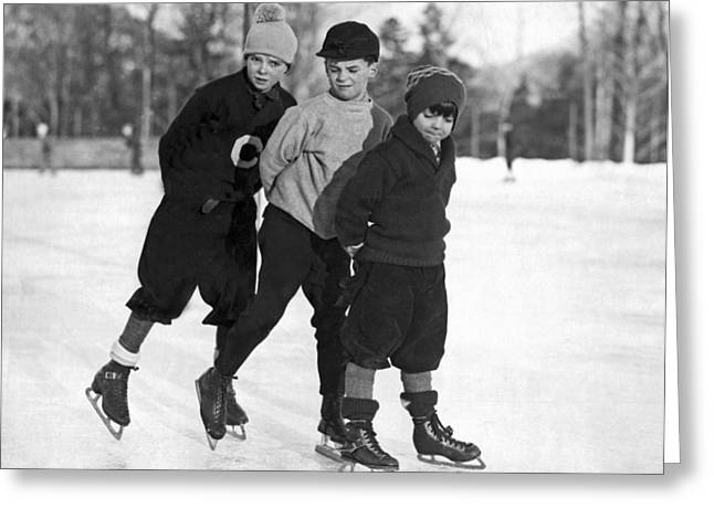 Skating At Lake Placid Greeting Card