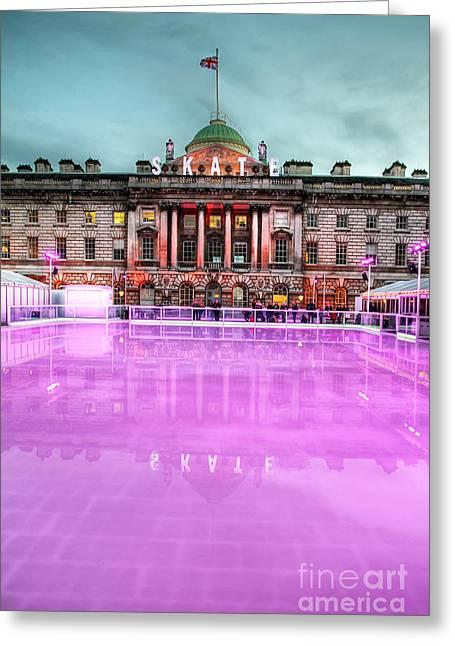 Skating At Somerset House Greeting Card by Jasna Buncic