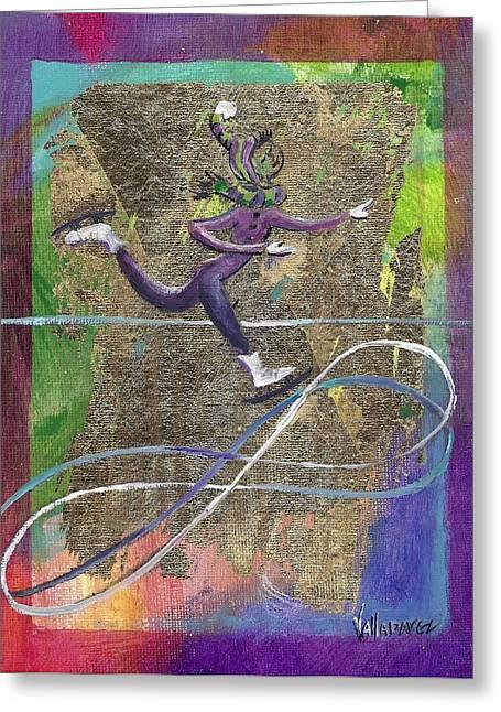 Skating Figure Eights Greeting Card
