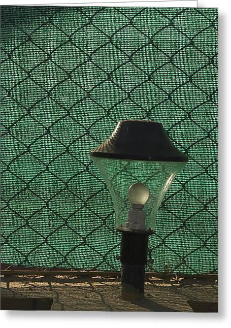 Skc 5518 A Lamp Shade Greeting Card by Sunil Kapadia
