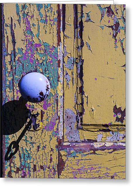 Skeleton Key Shadow Greeting Card by Garry Gay