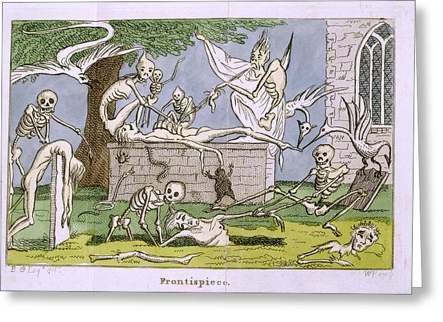 Skeletons Greeting Card by British Library