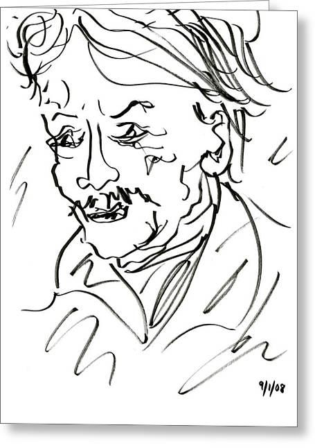 Sketch - Man Greeting Card by Rachel Scott