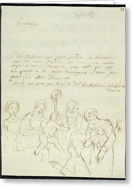Sketch Of Old Master Painting Greeting Card by British Library