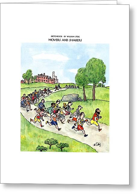 Sketchbook Movers And Shakers Greeting Card by William Steig