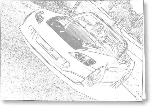 Sketched S2000 Greeting Card
