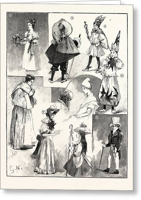 Sketches At The Lady Mayoresss Childrens Ball Mansion House Greeting Card by English School