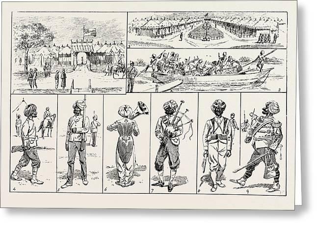 Sketches At The Rawul Pindi Durbar, 1885. 1. Entrance Greeting Card