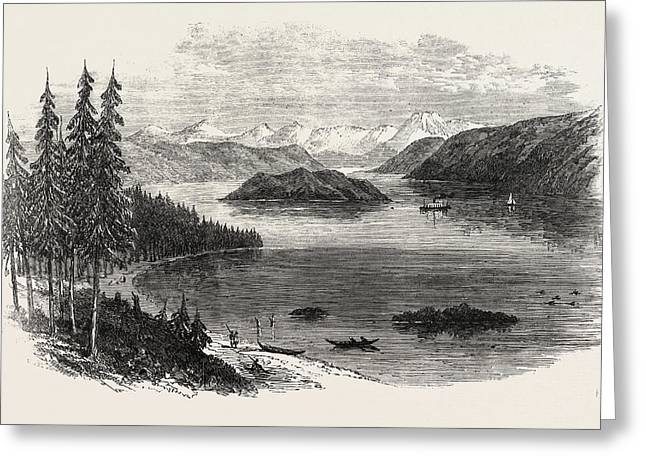 Sketches From British Columbia Harrison Lake Greeting Card by English School