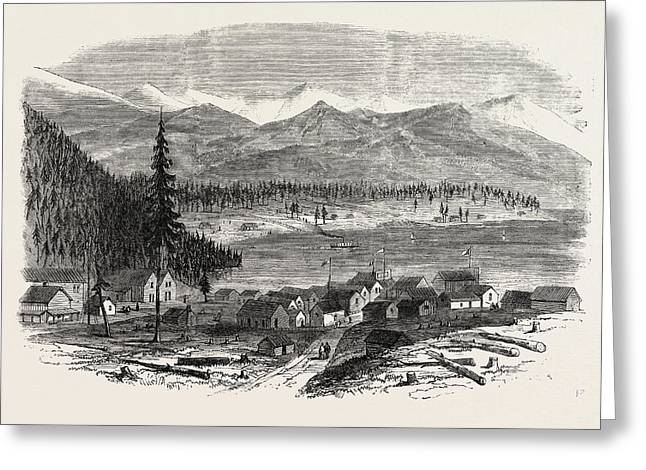 Sketches From British Columbia The Town Of Douglas Greeting Card by English School