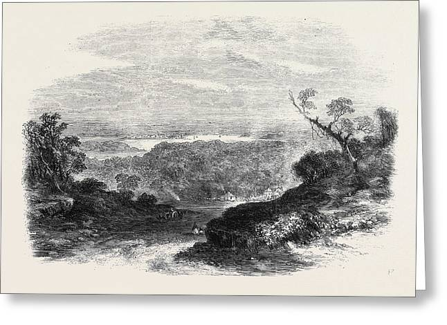 Sketches From Sydney New South Wales View From South Head Greeting Card by English School