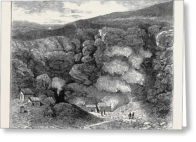 Sketches In The Lipari Islands Interior Of Great Crater Greeting Card