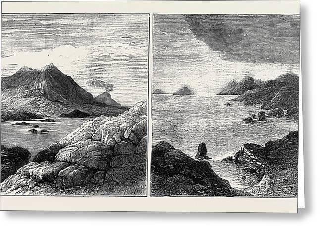 Sketches In The Lipari Islands Left Image Vulcanello Greeting Card