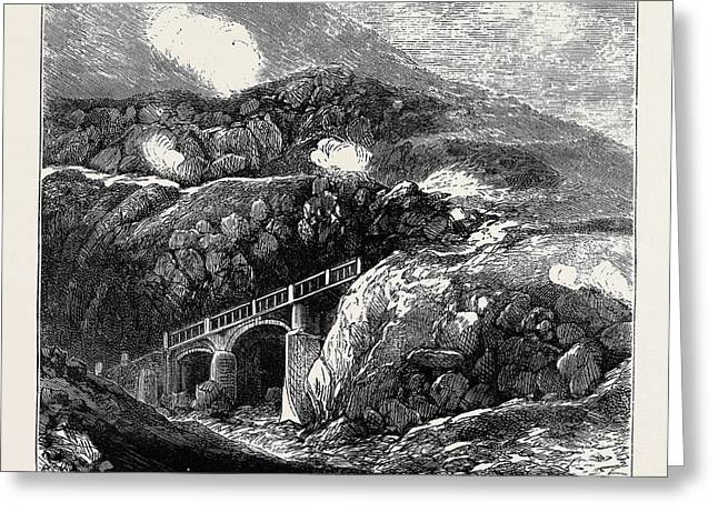 Sketches In The Lipari Islands Newly Constructed Bridge Greeting Card