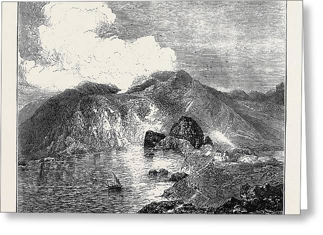 Sketches In The Lipari Islands View Of Great Crater Greeting Card