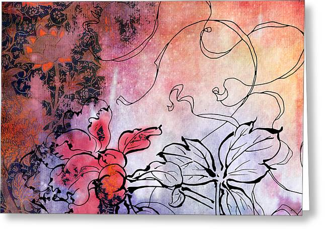Sketchflowers - Calendula Greeting Card by Aimee Stewart