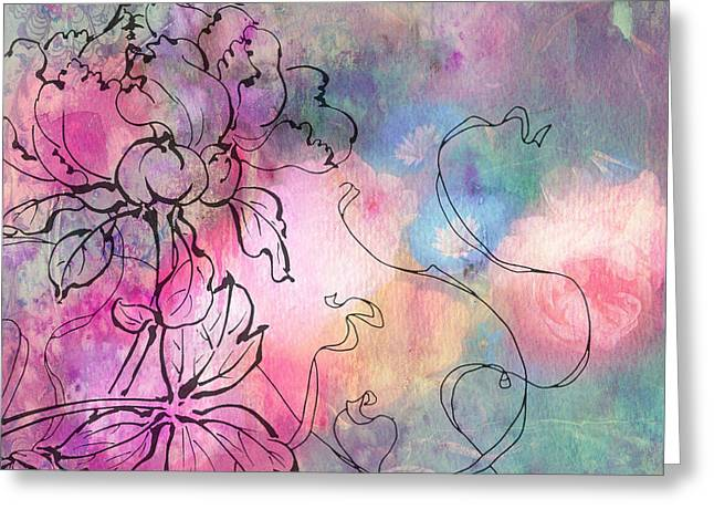 Sketchflowers - Dahlia Greeting Card by Aimee Stewart