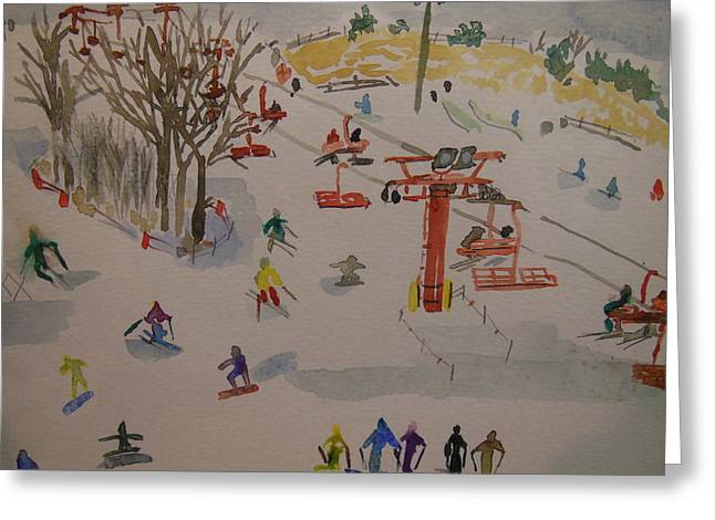 Ski Area Greeting Card by Rodger Ellingson