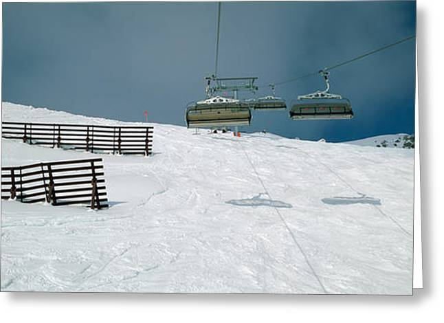 Ski Lift Over A Polar Landscape, Lech Greeting Card by Panoramic Images