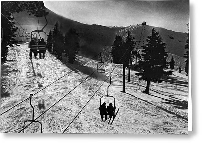 Ski Lifts At Squaw Valley In California Greeting Card