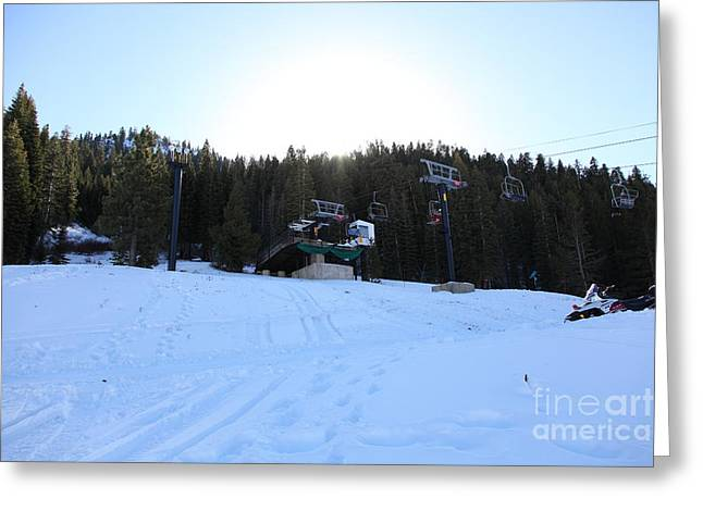 Ski Lifts At Squaw Valley Usa 5d27634 Greeting Card by Wingsdomain Art and Photography