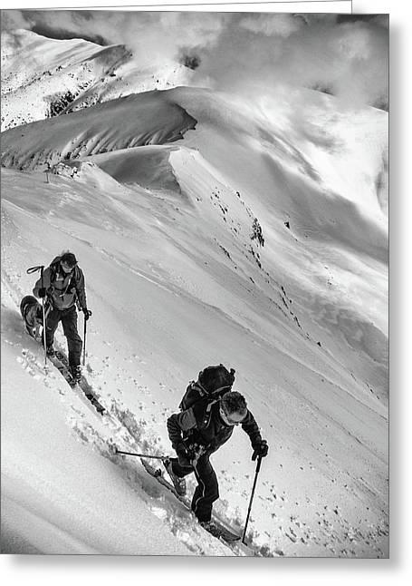 Ski Mountaineering . . Greeting Card