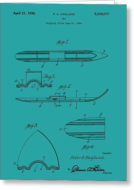 Ski Patent Greeting Card