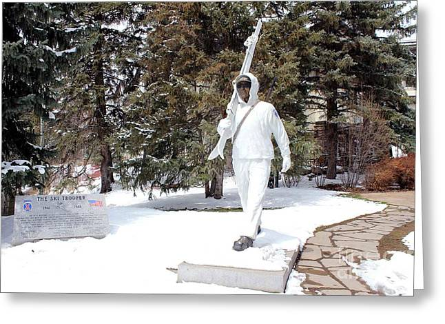 Greeting Card featuring the photograph Ski Trooper by Fiona Kennard