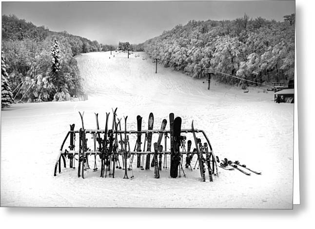 Ski Vermont At Middlebury Snow Bowl Greeting Card