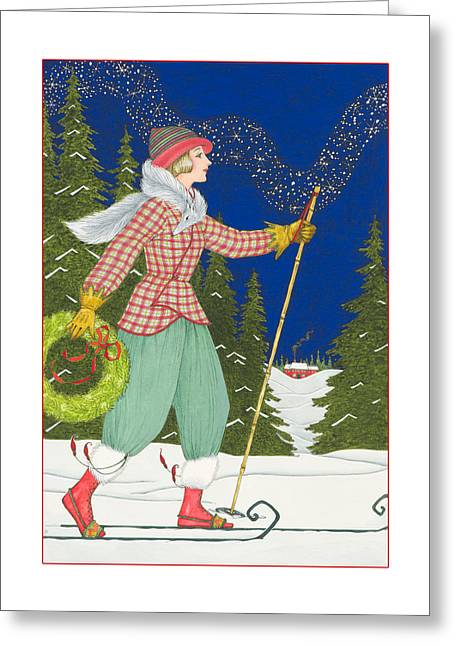 Ski Vogue Greeting Card