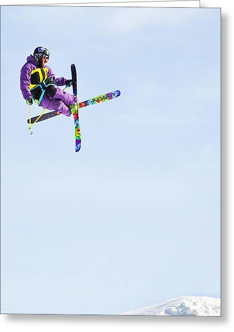 Ski X Greeting Card by Theresa Tahara