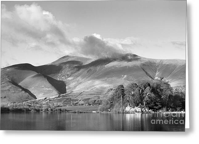 Skiddaw And Friars Crag Mountainscape Greeting Card by Linsey Williams