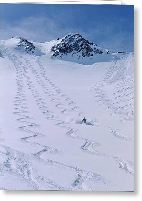 Skier Enjoying The Backcountry Greeting Card