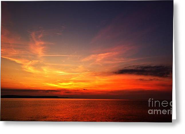 Skies On Fire Greeting Card by Stephen Melia