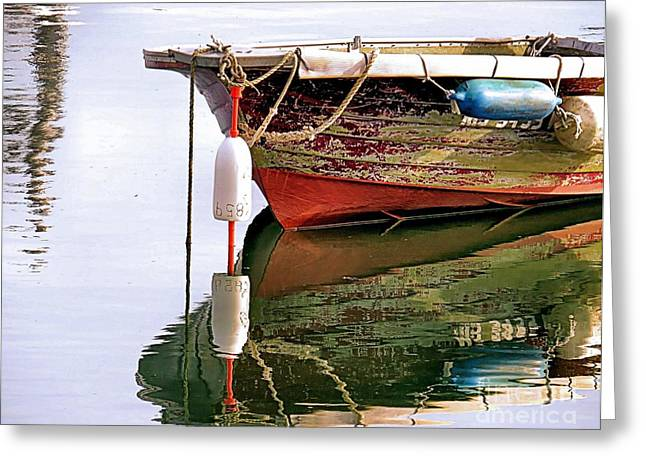 Skiff Reflections Greeting Card