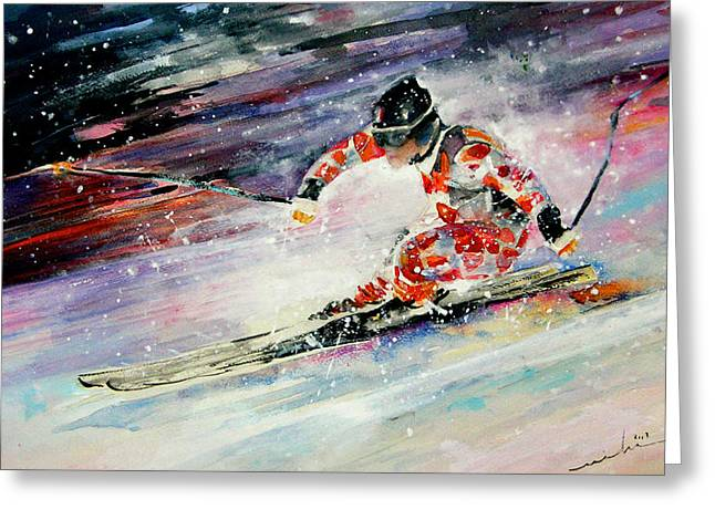 Skiing 01 Greeting Card