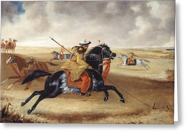 Skinners Horse At Exercise, C.1840 Greeting Card