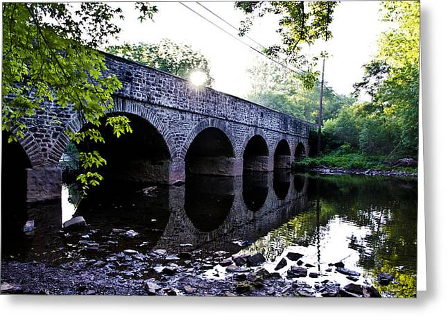 Skippack Creek Bridge - Germantown Pike Greeting Card