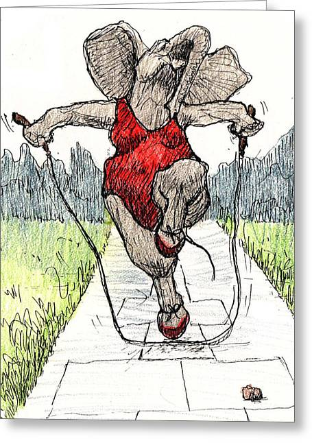 Skipping Rope Greeting Card