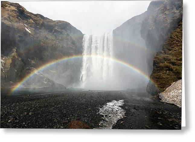 Skogafoss Greeting Card by Dr Juerg Alean