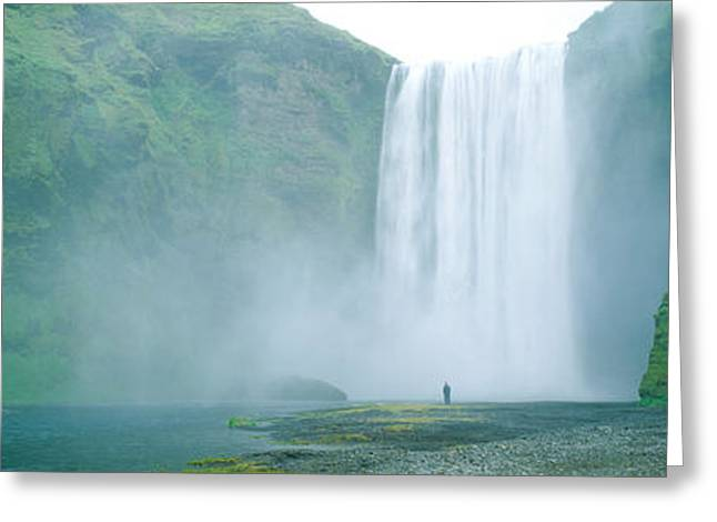 Skogafoss Falls, Skogar River, Iceland Greeting Card by Panoramic Images