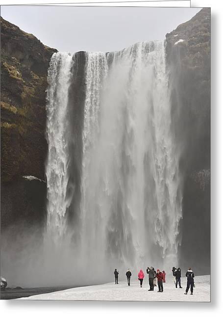 Skogafoss Waterfall Greeting Card by Dr P. Marazzi