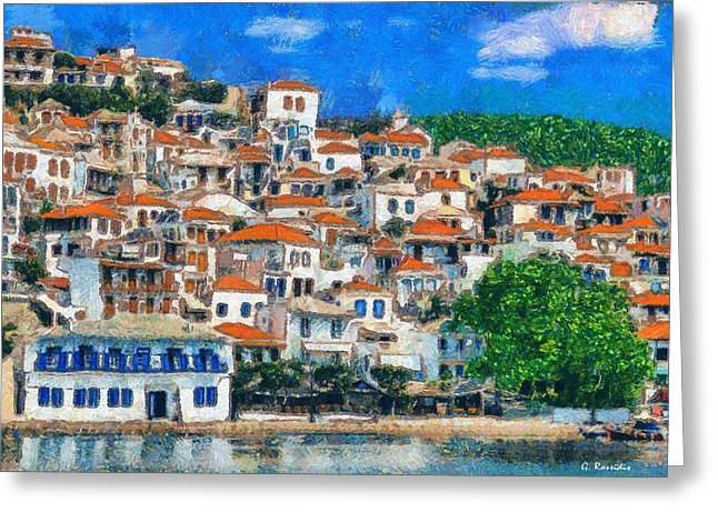 Skopelos Greeting Card by George Rossidis