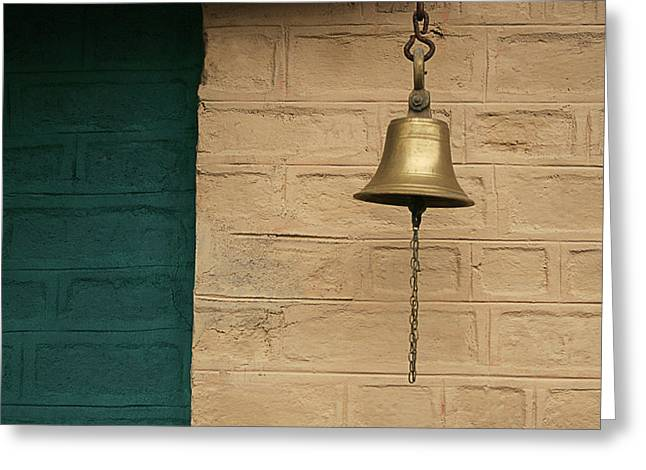 Greeting Card featuring the photograph Skc 0005 A Doorbell by Sunil Kapadia