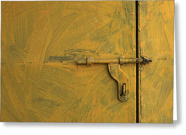 Greeting Card featuring the photograph Skc 0047 The Door Latch by Sunil Kapadia