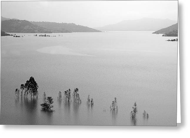 Greeting Card featuring the photograph Skc 0055 A Hazy Riverscape by Sunil Kapadia