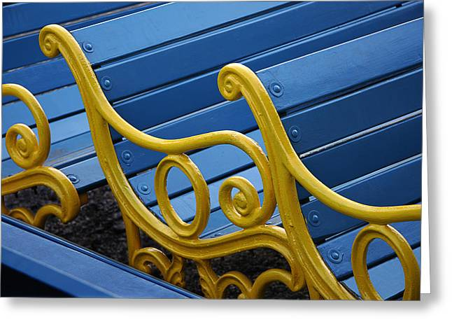 Greeting Card featuring the photograph Skc 0246 The Garden Benches by Sunil Kapadia